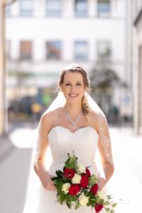 Hochzeit, Portrait der Braut