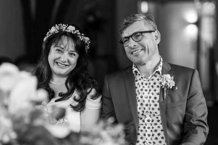Hochzeitsreportage Tangermünde | glücklich bei der Trauung