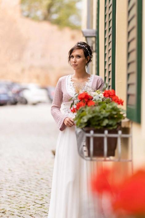 Hochzeit in Tangermünde - Braut am Fenster